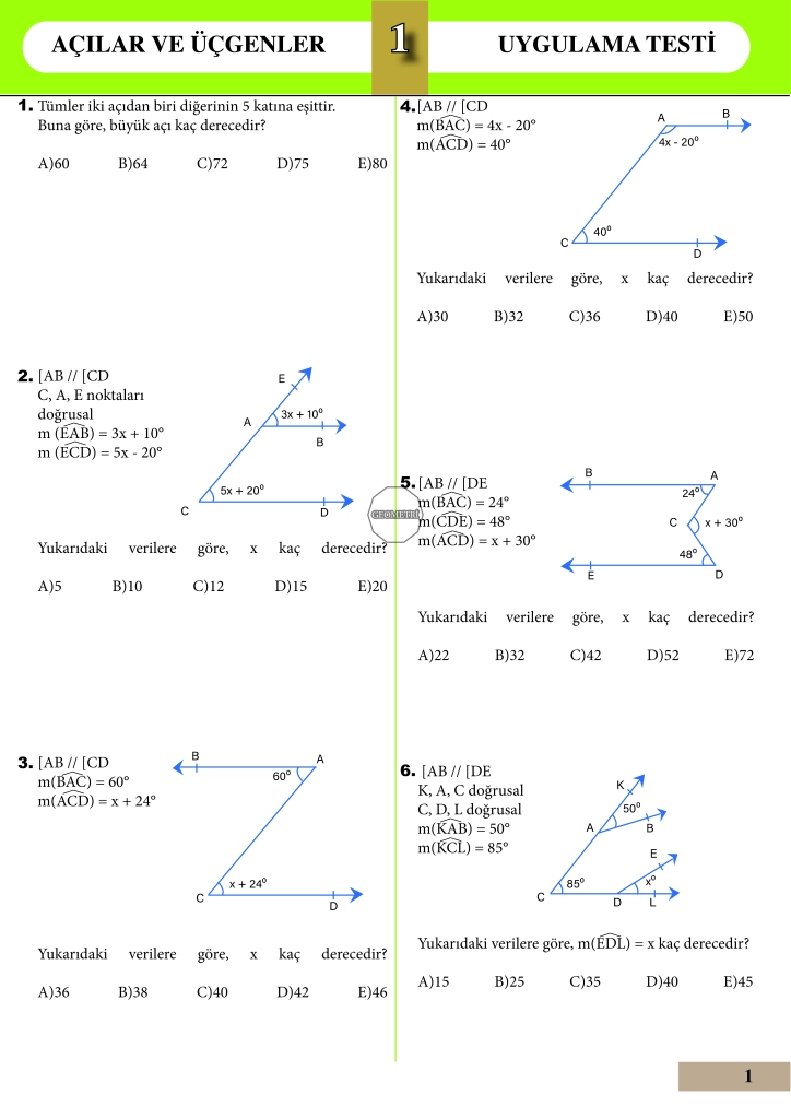 Geometri-acilar-ve-ucgenler-uygulama-testi-dizgi-ve-mizanpaj-ornegi